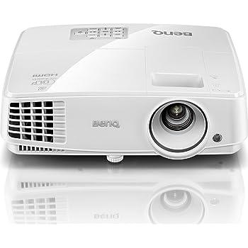 BenQ MS527 Videoproiettore proiezione DLP, Risoluzione: SVGA / HDTV massima 1080p / Supportata VGA (640 x 480) to WUXGA_RB (1920 x 1200), Supporto Blu-ray Full HD 3D, 3300 lumen, 13000:1, Bianco
