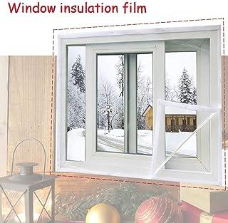 Lona, Película Transparente para Ventanas Winter Keep Warm Película retráctil de PVC a Prueba de Viento Cinta mágica Autoadhesiva Reutilizable, 23 tamaños (Color: Transparente, Tamaño: 1.5x1.