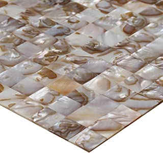 ZHANWEI 3D Wall Panels Mosaic Natural Shell Texture Background Wall Waterproof Wallpaper (Color : 1 PC, Size : 300x300mm)