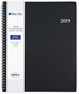 """Blue Sky 2019 Weekly & Monthly Planner, Flexible Cover, Twin-Wire Binding, 8.5"""" x 11"""", Enterprise"""