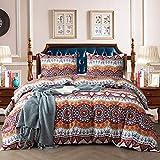 NEWLAKE Duvet Covet Set-3 Pieces Comforter Cover Sets (1 Duvet Cover + 2 Pillow Shams),Que...