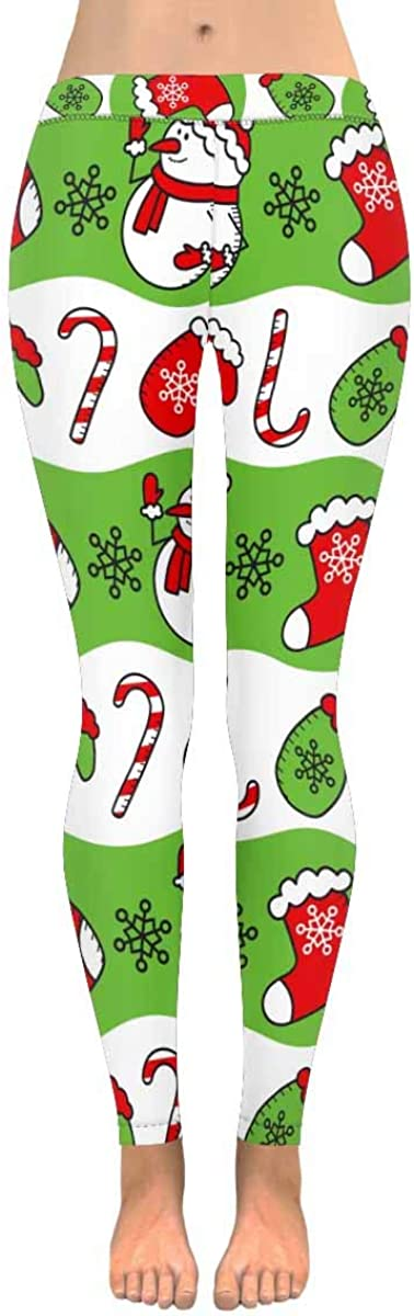Christmas Selling and selling Gingerbread Snowmen Snowflakes Custom Very popular L Stretchy Capri