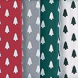 Textiles français Stoffpak Árboles de Navidad - Set de telas - 4 telas   100% algodón   cada pieza 40 cm x 50 cm