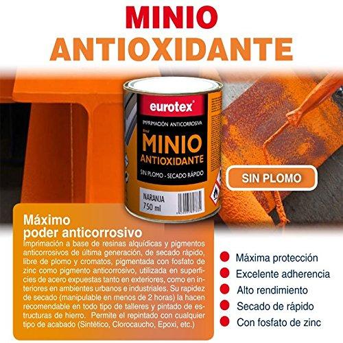 Minio antioxidante sin plomo es una imprimación anticorrosiva de última generación, ideal como primera mano sobre hierro. - 750 ml -