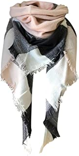iLOOSKR Ladies Winter Warm Long Shawl Colorful Scarf Casual Double Sided Lattice Large Cashmere Scarf