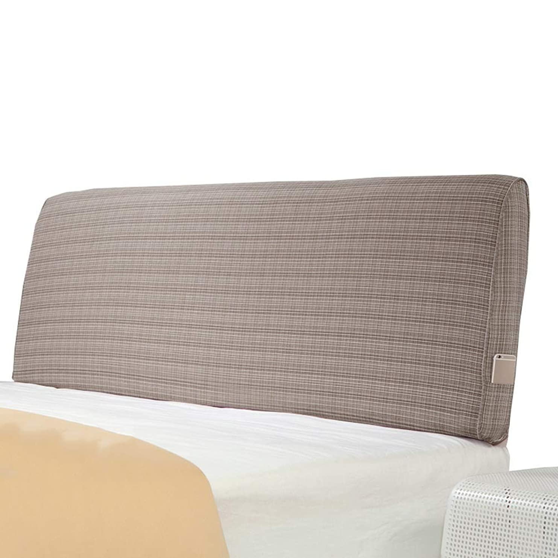 橋健康現金WZBヘッドボードクッションソフトシンプルな環境にやさしいスポンジウエストをきれいにサポート、4色、5サイズ(色:B-茶色、サイズ:200x60x10cm)