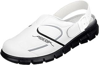 Abeba - Scarpe Da Lavoro In Microfibra, Colore: Bianco, Taglia 38