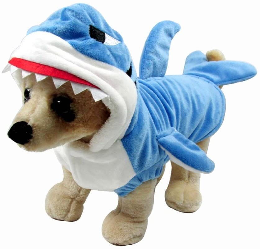 Mogoko At the price of surprise High quality Funny Dog Cat Shark Costumes Christmas Cos Halloween Pet