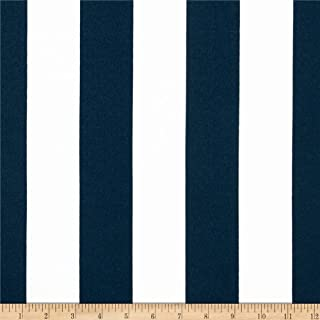 Premier Prints Indoor/Outdoor Stripe Oxford/Blue/White Fabric by The Yard