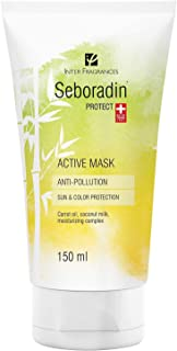 Seboradin Protect Anti Pollution Mask, Hair Detox, Sun and Colour Protection with Coconut and Carrot Extracts and Moisturi...