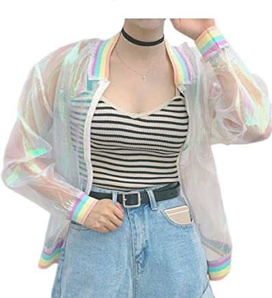 Yuehen Summer Women New colorful European Root Stitching Female Rainbow Collar Wild
