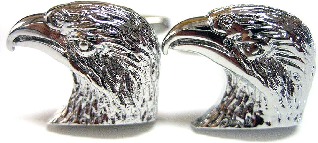 Kiola Designs Eagle Head Cufflinks