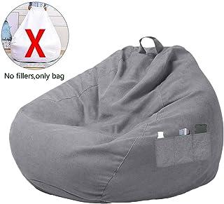 DWDMZ - Funda de puf grande con tres bolsillos laterales, para adultos y niños, Gris, S:70x80CM