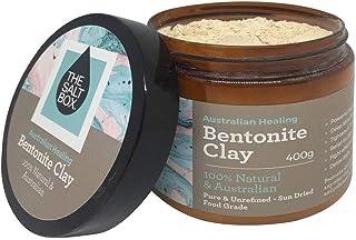 The Salt Box 100% Natural Australian Bentonite Clay 400 Jar for Deep Cleansing Face Mask and Detox Bath. Food Grade Sodium...