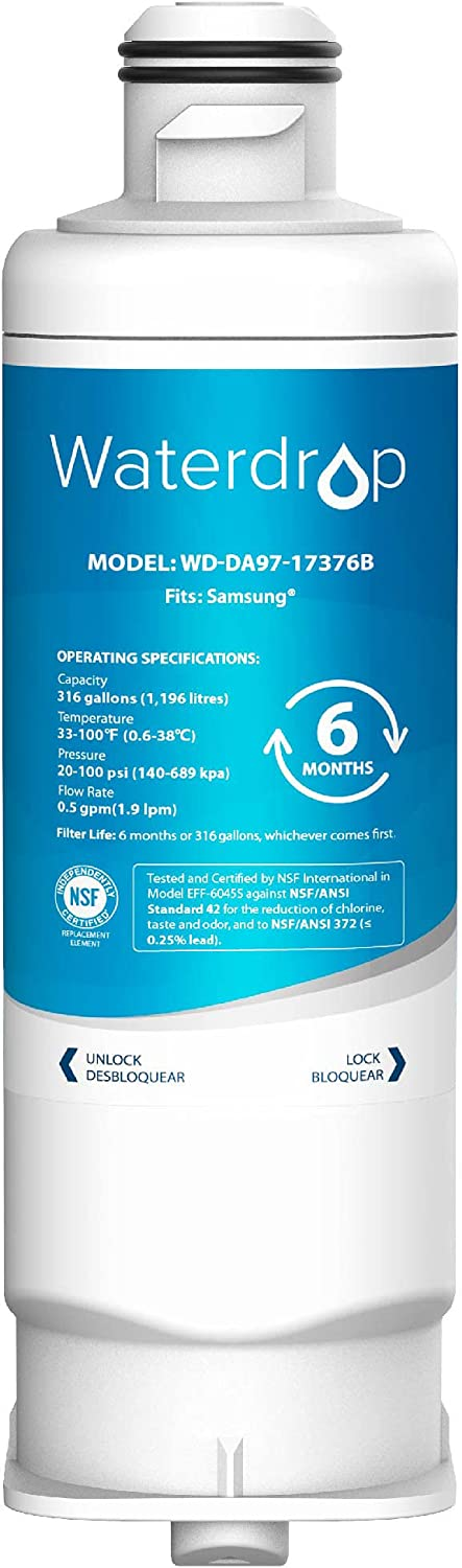 Waterdrop Popular product DA97-17376B Wholesale Refrigerator Water Compatible Filter with