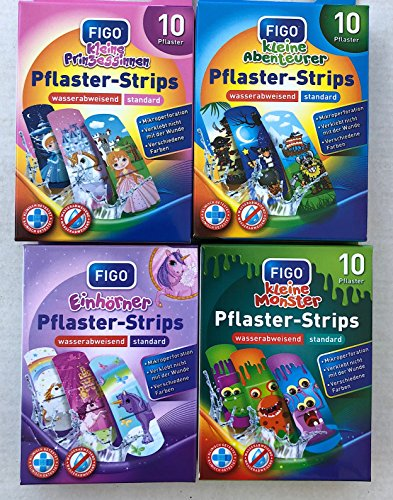naund Figo® Pflaster 40 Kinderpflaster Mix (Geburtstag Adventskalender Kinderparty)