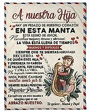 Manta Padre Le Da A La Hija Una Manta,Airmail con Letras para Padre para Hija, Manta De Franela para Favorecer Positivamente Y Amor E Hija Personalizado Manta