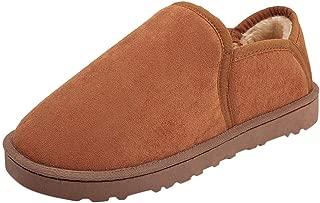 FIRERO Men Comfortable Home Plus Velvet Snow Boots Fashion Casual Warm Cotton Shoes