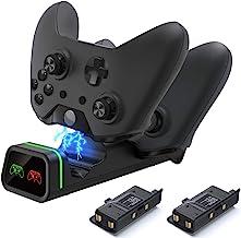 Carregador de controle para Xbox One, estação de carregamento com controle Xbox compatível com Xbox One/One X/One S/One El...