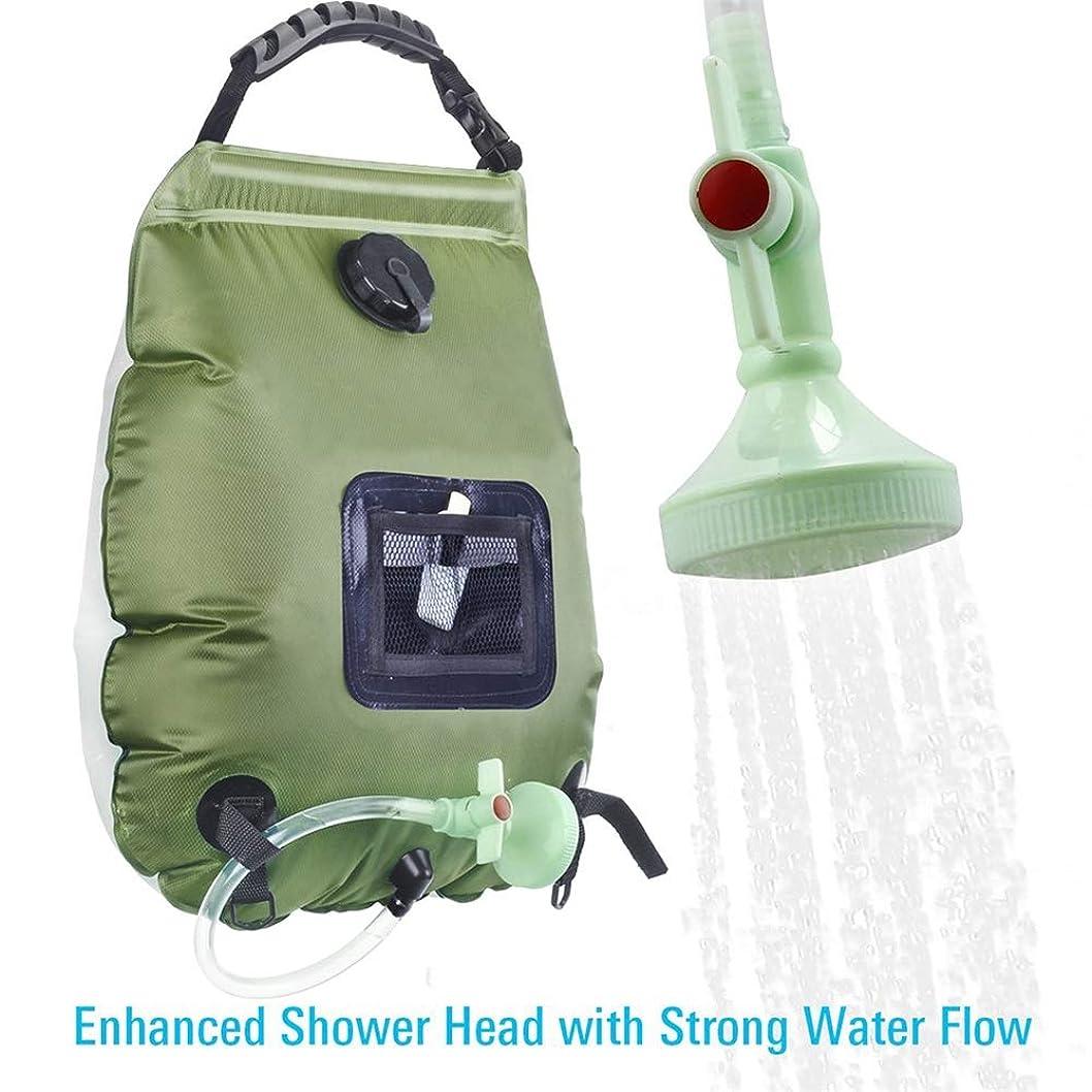 ベックス第五刃ソーラーキャンプシャワー夏のシャワー5ガロン/ 20Lソーラー暖房キャンプシャワーバッグ(取り外し可能なホースとシャワーヘッド付き)アウトドア旅行ハイキング