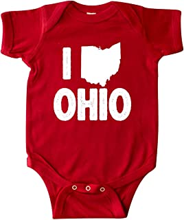 inktastic I Love Ohio with State Silhouette Infant Creeper