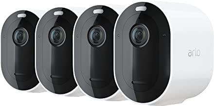 Arlo Pro 4 Wire-Free Spotlight Camera – 4 Camera Pack - 2K Video with HDR | Indoor/Outdoor Security Cameras | Color Night ...