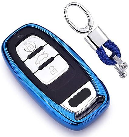 Blau Car Keyless Entry Key Cover Fall Für Audi A1 A3 A4 Elektronik