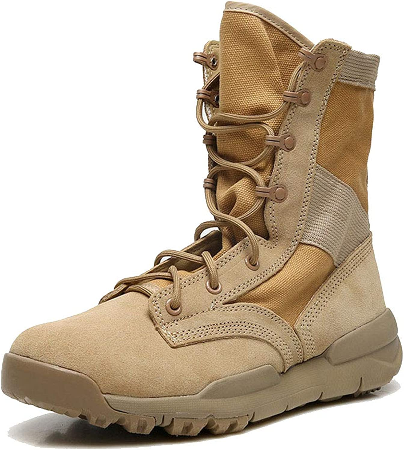 SDKHIN Military Desert Boots combat patrol breathable couples military boots sand prevention outdoor hiking desert boots tactical boots