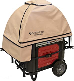 GenTent 10K Generator Tent Running Cover - XKU Kit (Standard, TanLight) - Compatible with 3000w+ Inverter Generators