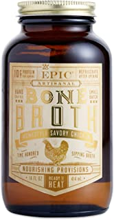 Epic Artisanal Sipping Bone Broth (Homestyle Savory Chicken, 1-Pack)