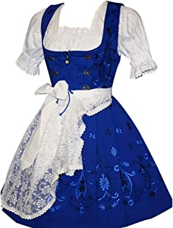 Dirndl Trachten Haus 3-Piece Short German Party Oktoberfest Waitress Dress