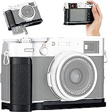 JJC Dedicated Metal Hand Grip L Bracket Anti-Slid Holder for Fujifilm Fuji X100V X100F Camera, Arca Swiss Type Quick Release Tripod Plate Design w/Battery Compartment Opening