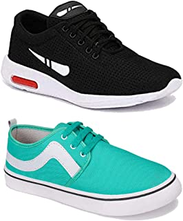 WORLD WEAR FOOTWEAR Men Multicolour Latest Collection Sports Running Shoes-Pack of 2 (Combo-(2)-1200-9106)