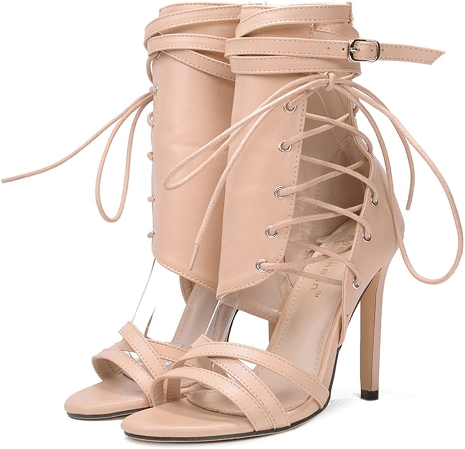 Women's shoes PU Summer Stiletto Heel Lace-up Strappy Club shoes Roman shoes for Party & Evening Dress