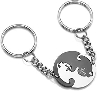 Kanggest Porte-Cl/és personnalit/é Lapin Cr/éatif Charme Lapin de Alliage Cha/îne Keychain Cl/é pour De Voiture T/él/éphone Sac /à Main Pendentif Cadeau D/écoration Accessoires