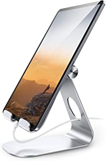 Tablet Stand Adjustable, Lamicall Tablet Stand : Desktop Stand Holder Dock Compatible with Tablet Such as iPad 2018 Pro 9....