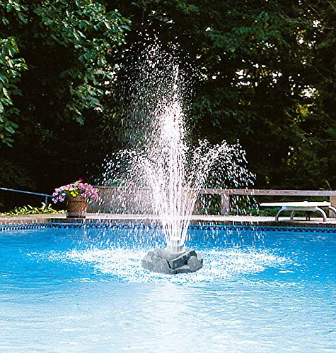 New Grecian Triple 3 Three Tier Rock Floating Outdoor Swimming Pool Fountain