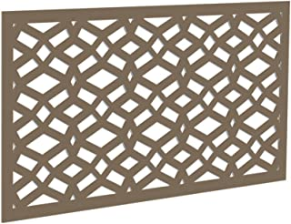 YardSmart Decorative Screen Panel (2' x 4') Celtic, Saddle 73004783