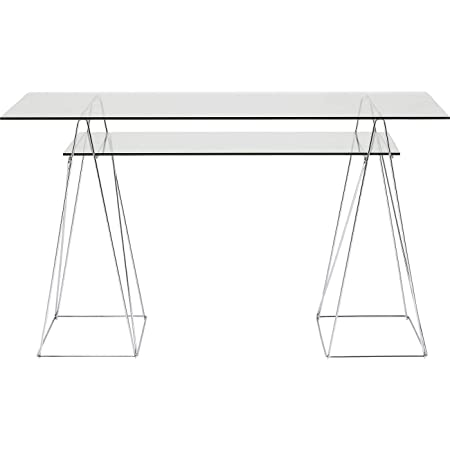 Table Bureau Polaire Chrome/ Cristal