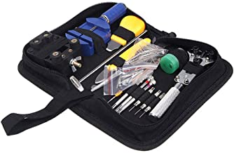 Leorealko Professional Watch Repair Tools Set for Battery Change Case Opener Band Link