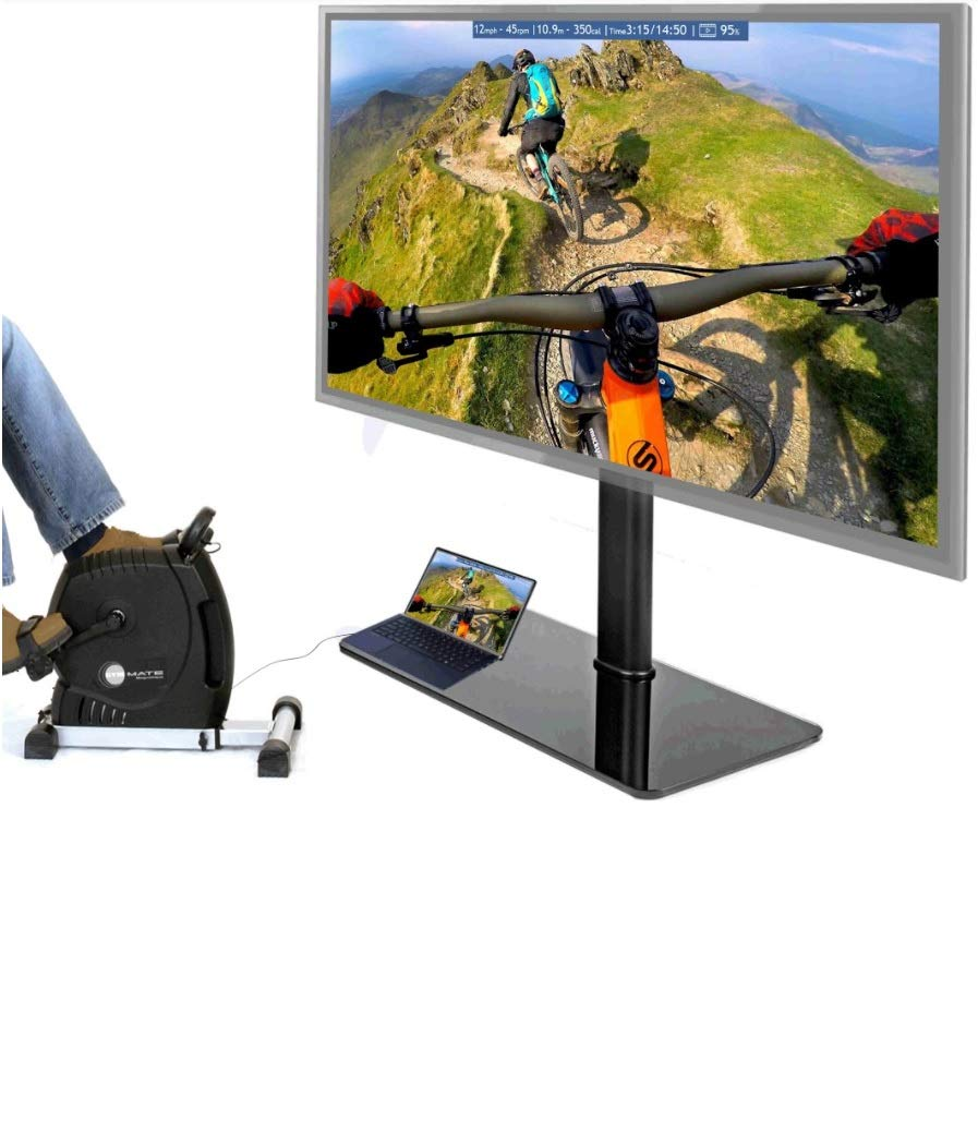 NEW Smart Interactive Magnetic Exercise Cycle with VR Video Streaming - Explore thousands of Real and Virtual Worlds on Screen - Say Hello Fit - No more Tiresome Workouts!