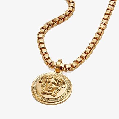 Versace Venetian Chain Medallion Necklace (Gold) Necklace