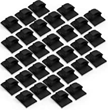 Smilife Black Cable Clips, Adhesive Wire Holder Clips for Car, Home and Office, 30 Pack