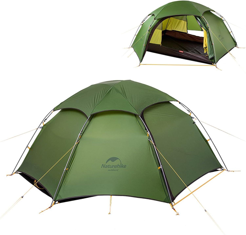 NatureHike Cloud Peak 4 Season 2 Person High Elevation Camping Tent Waterproof Backpacking Tent About 2.5kg