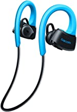DACOM True Waterproof Bluetooth Ear-Buds for Running Surfing Snorkeling 3 Feet Deep, Wearable in Rain Pool Shower Sky Diving Comfortable Earhooks Prevent it From Falling off During Activity (Blue)