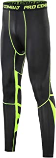 BOOMCOOL Men's Compression Pants Running Baselayer Compression Tight Leggings Outdoor Workout