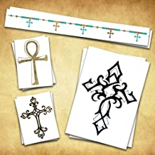 Cross Temporary Tattoos   Skin Safe   MADE IN THE USA  Removable