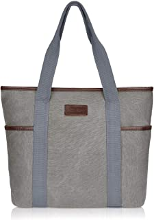 Canvas Tote Bag for Women,Sunny Snowny Large Tote Bags,Work School Shoulder Bag