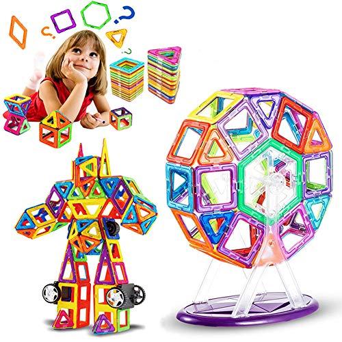 LIVEHITOP Bloques de Construcción Magnéticos 109 Piezas Set, Magnéticas Juegos de Construcción Educativos Creativos DIY Juguetes Regalo día del niño pour Niños y Niñas con Rueda de Fortuna