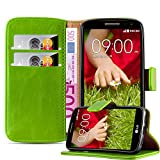 Cadorabo Book Case works with LG G2 MINI in GRASS GREEN -